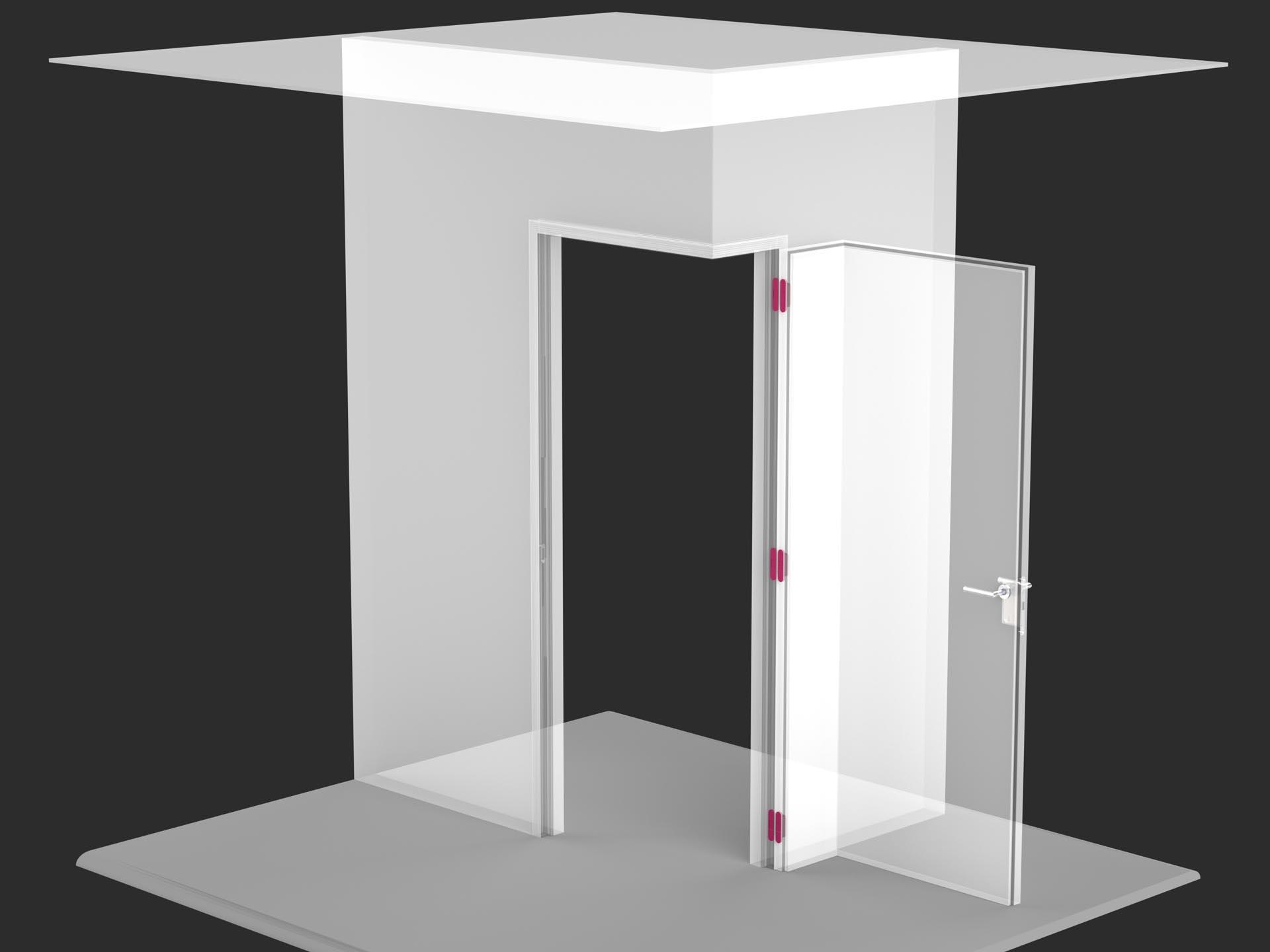 Porta filomuro ad angolo evoline3