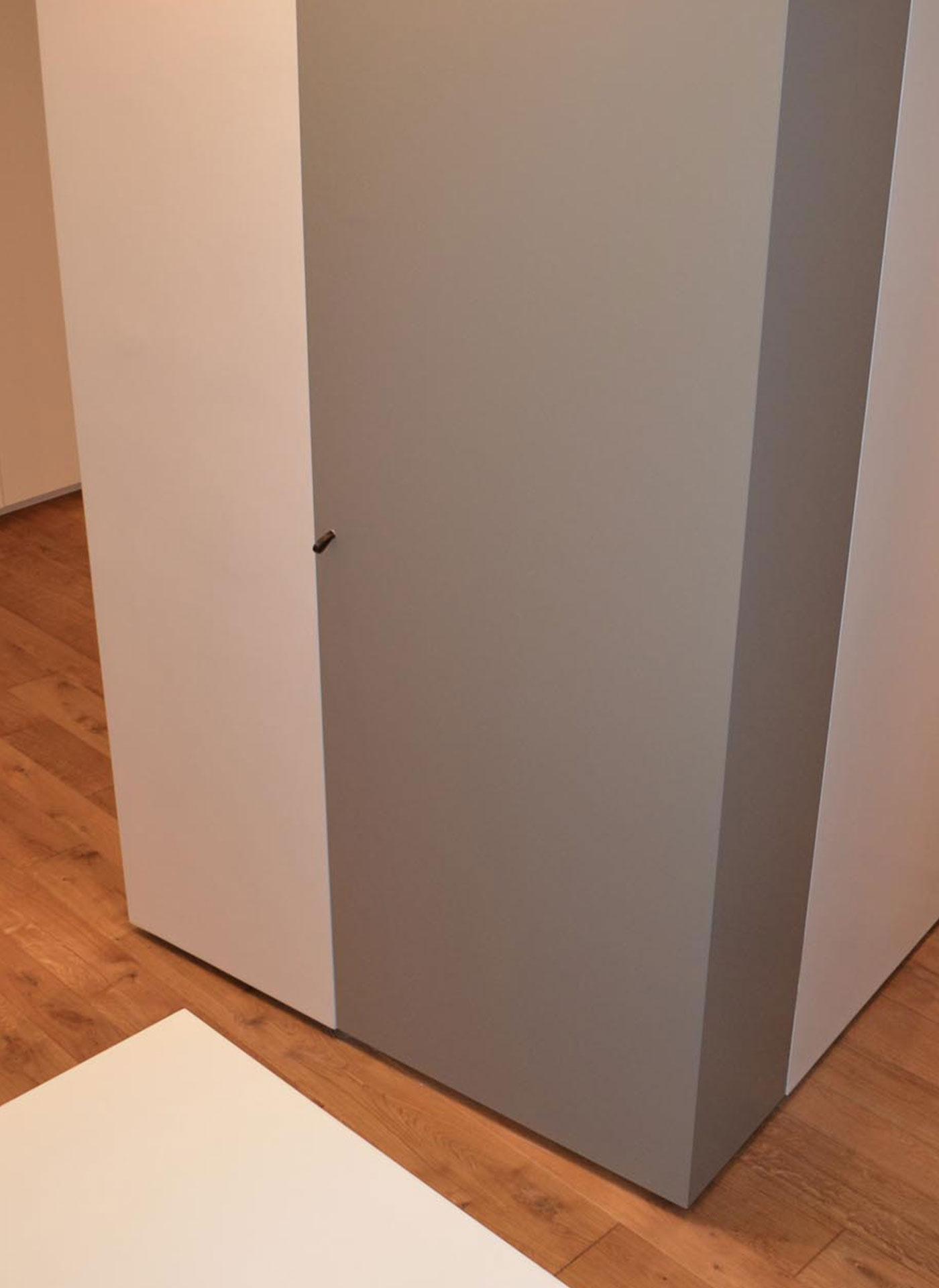 Porte Filo Muro Specchio porta filomuro ad angolo - evoline3