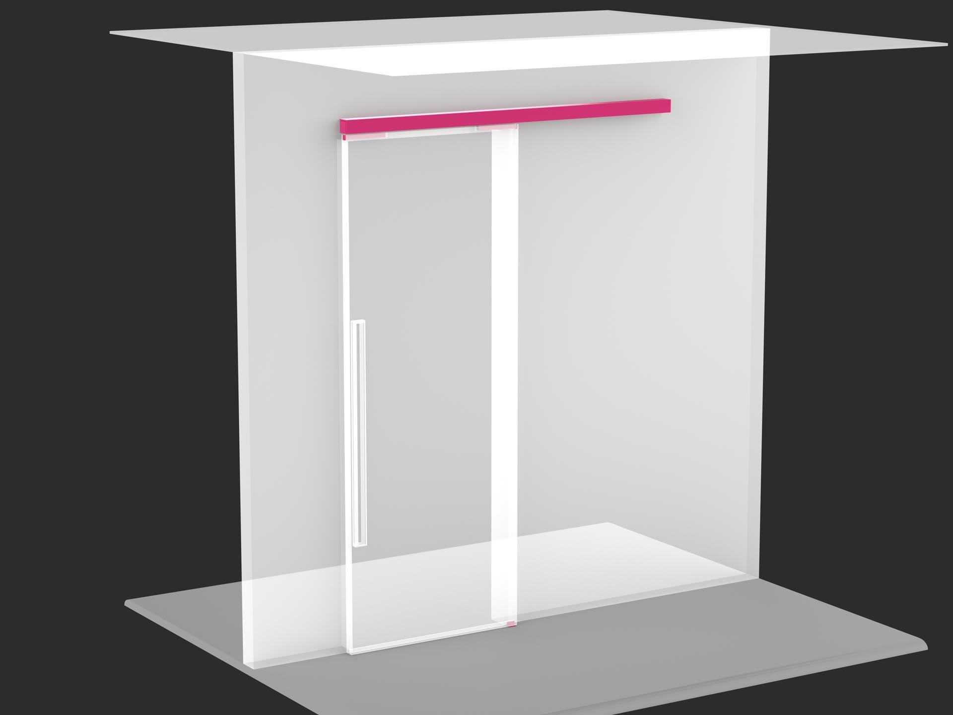 Porta scorrevole con binario a parete evoline3 - Parete attrezzata con porta scorrevole ...