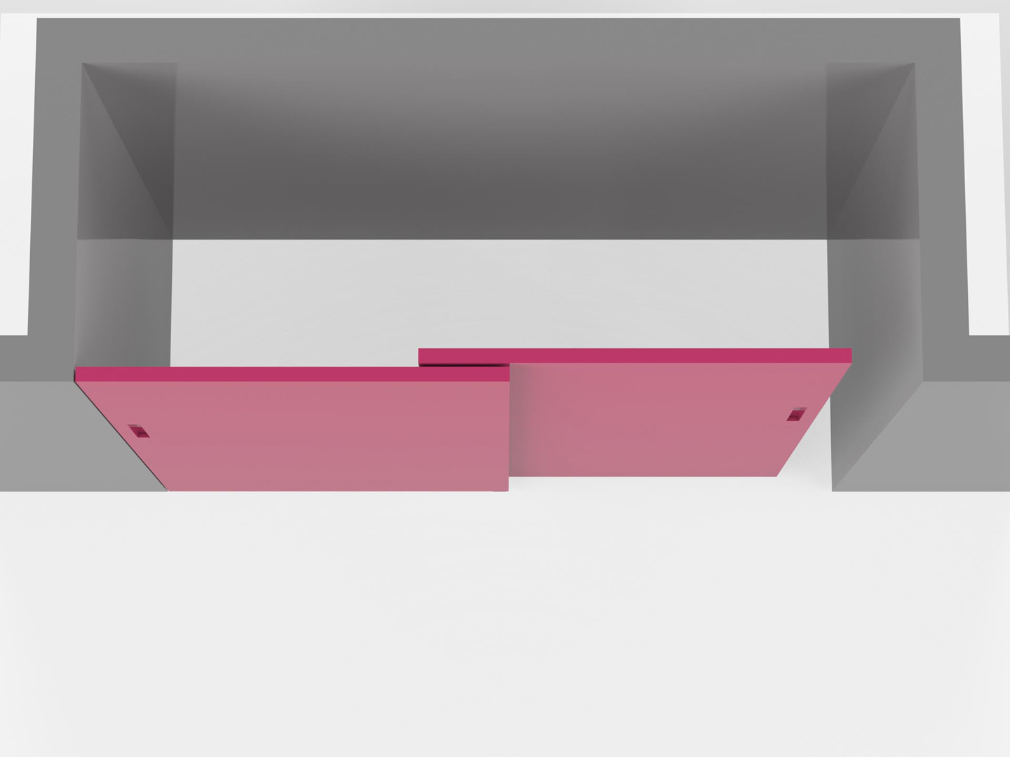 Guide X Ante Scorrevoli.Sliding Panels With A Rail Built Into The Ceiling Evoline3