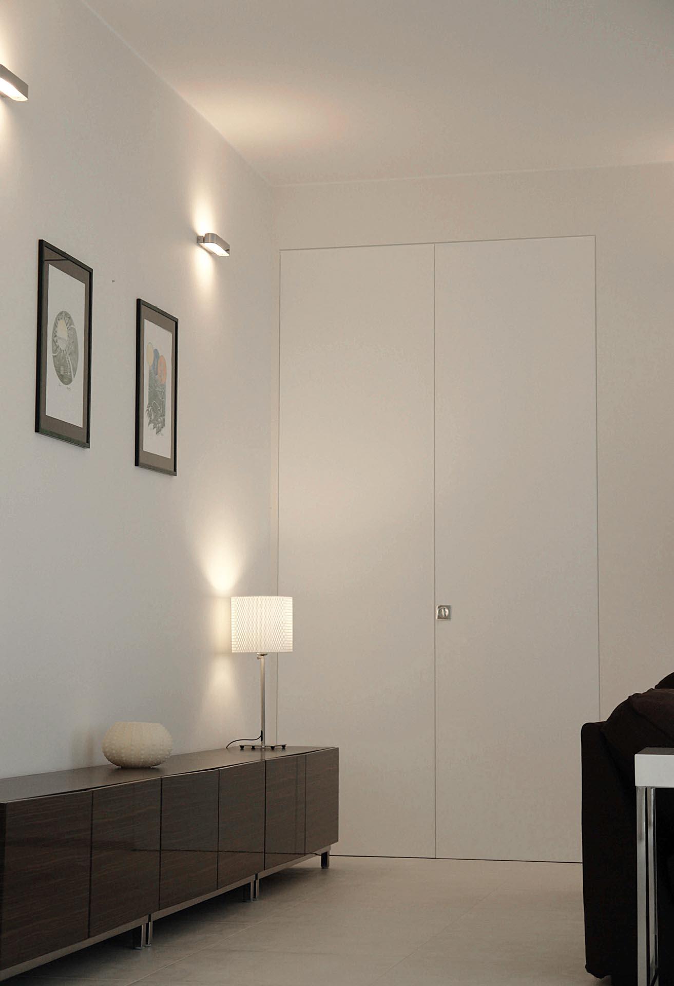 Wandbündige Türe zum Drücken - Evoline3