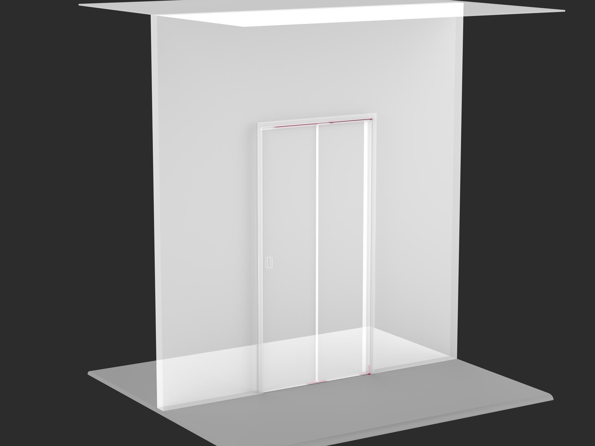 Porta filomuro pieghevole 180 chiusa evoline3 for Porta pieghevole