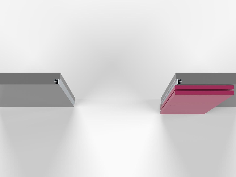Armadio Filo Muro porta filomuro pieghevole 180 gradi - evoline3
