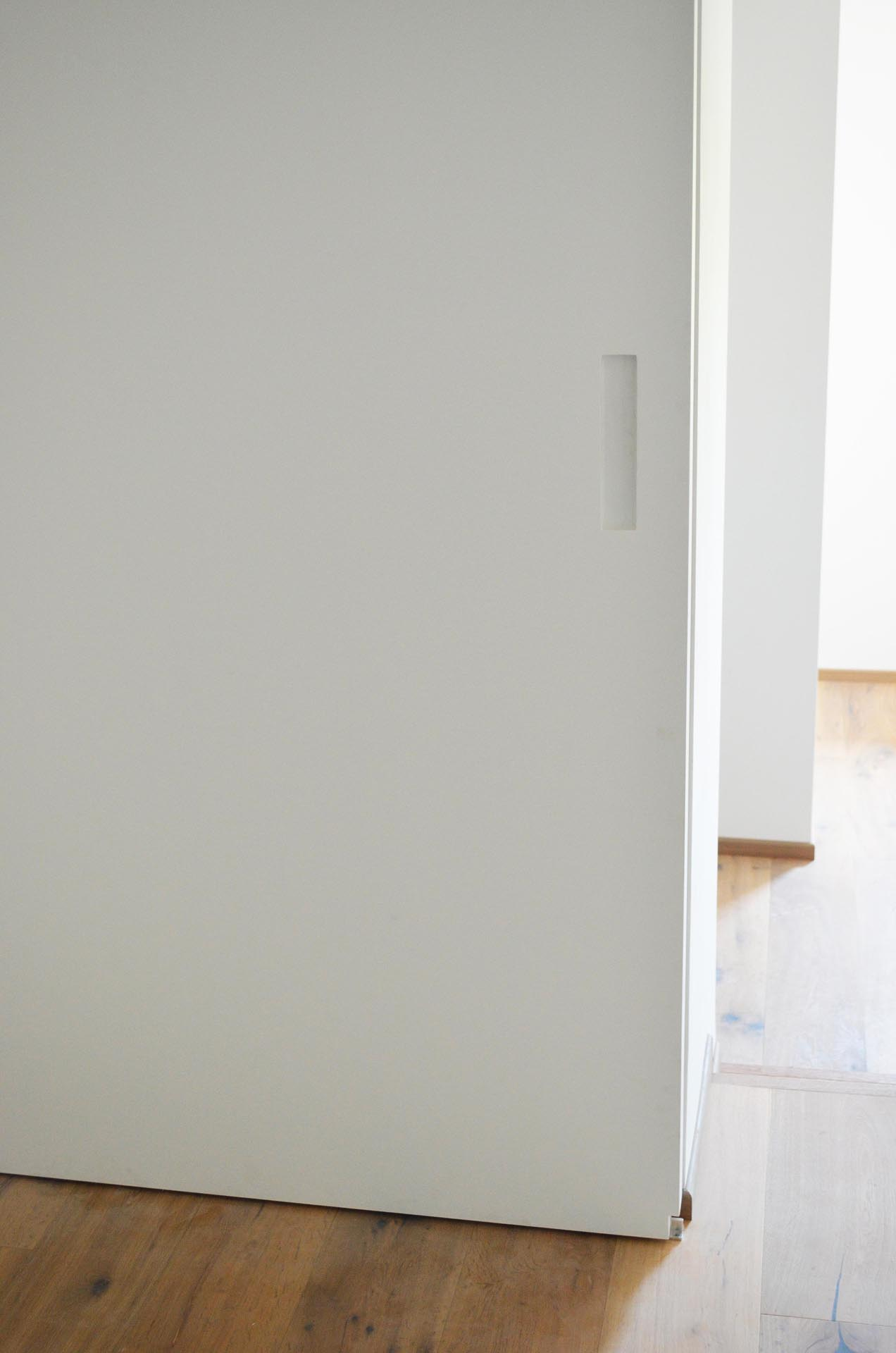 Porta scorrevole maniglia ricavata evoline3 - Montaggio porta scorrevole ...
