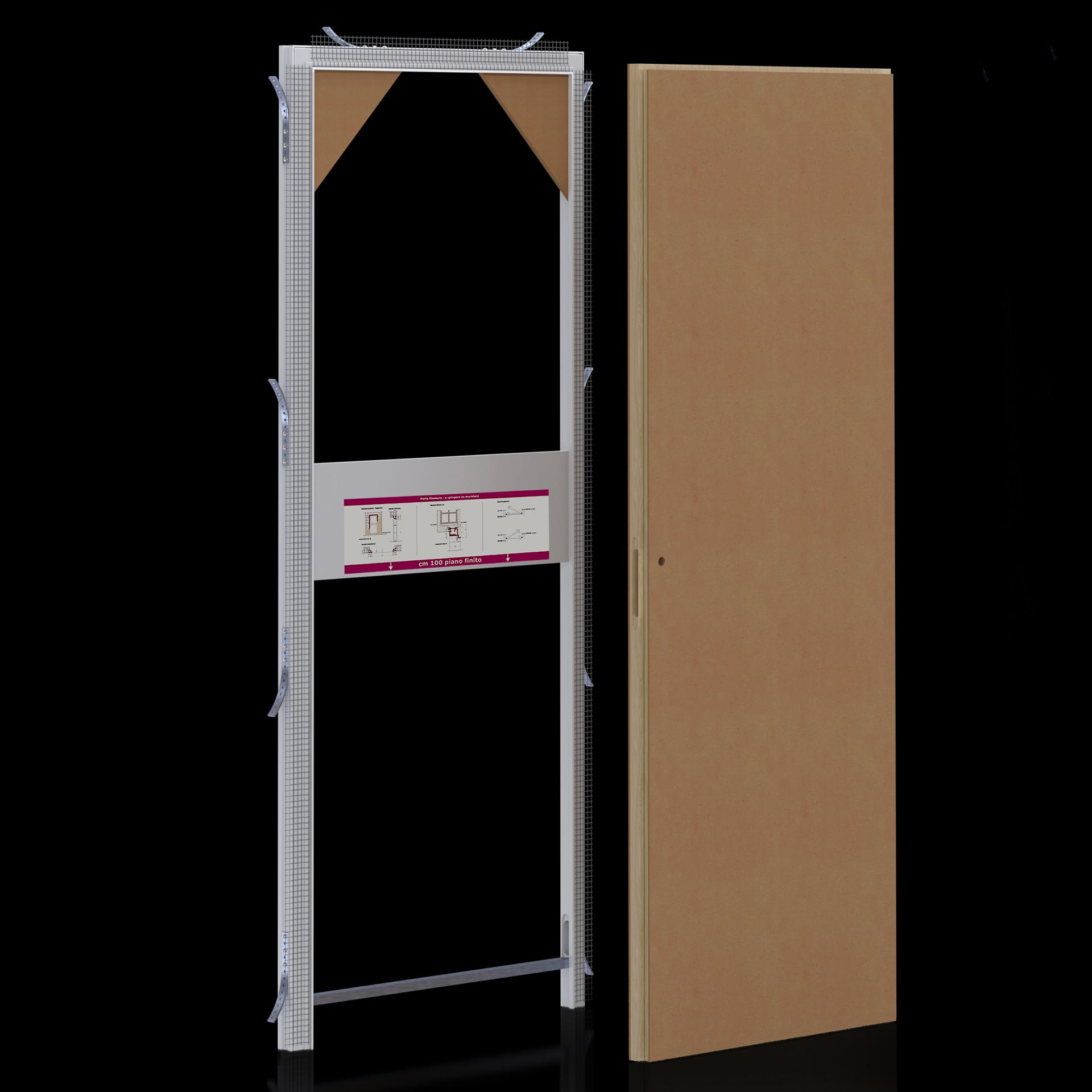 Montaggio Porta Filo Muro Cartongesso più valore - evoline3