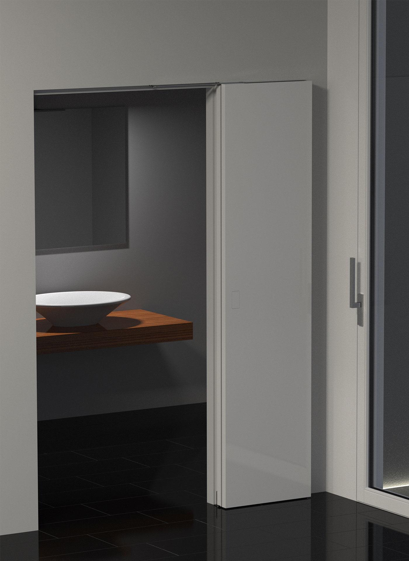 Porte Filo Muro Specchio porta filomuro pieghevole 180 gradi - evoline3