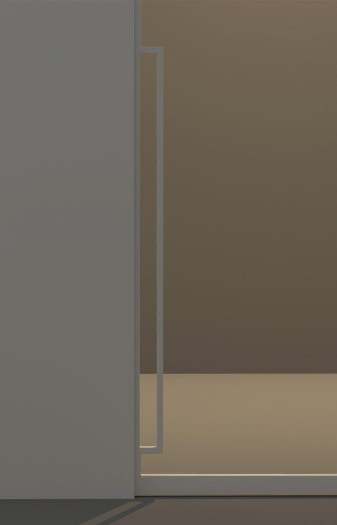 Porta scorrevole in vetro maniglia particolare maniglia e - Maniglia porta scorrevole ...