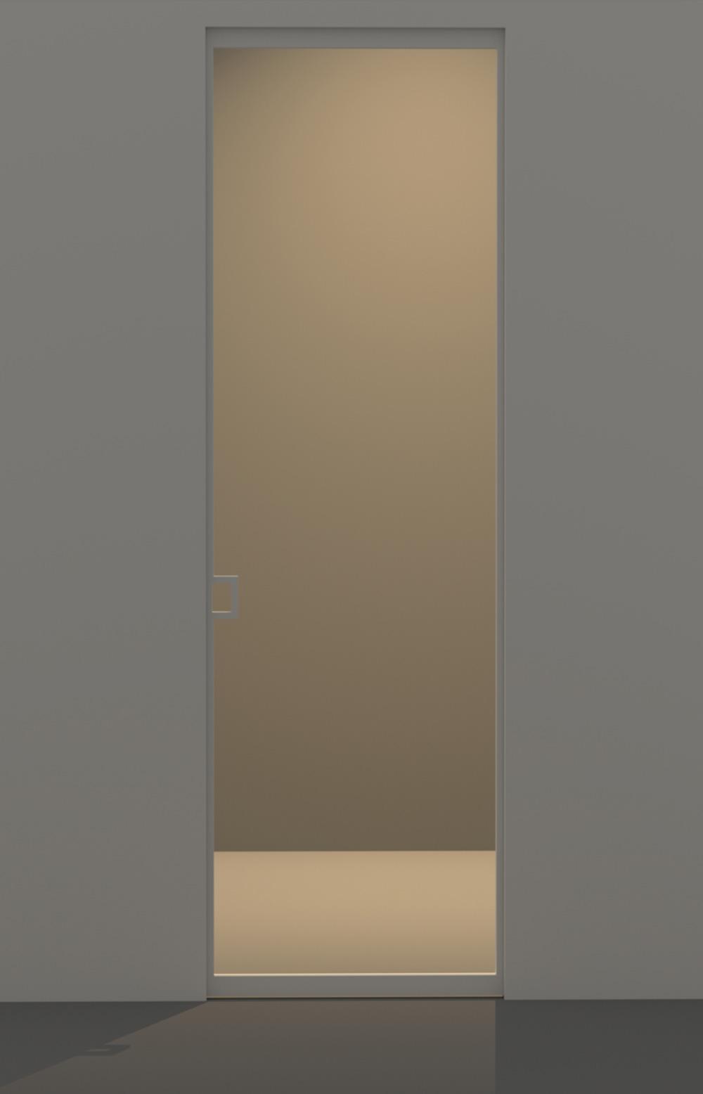 Porta scorrevole in vetro maniglia posizione a evoline3 for Porta scorrevole economica