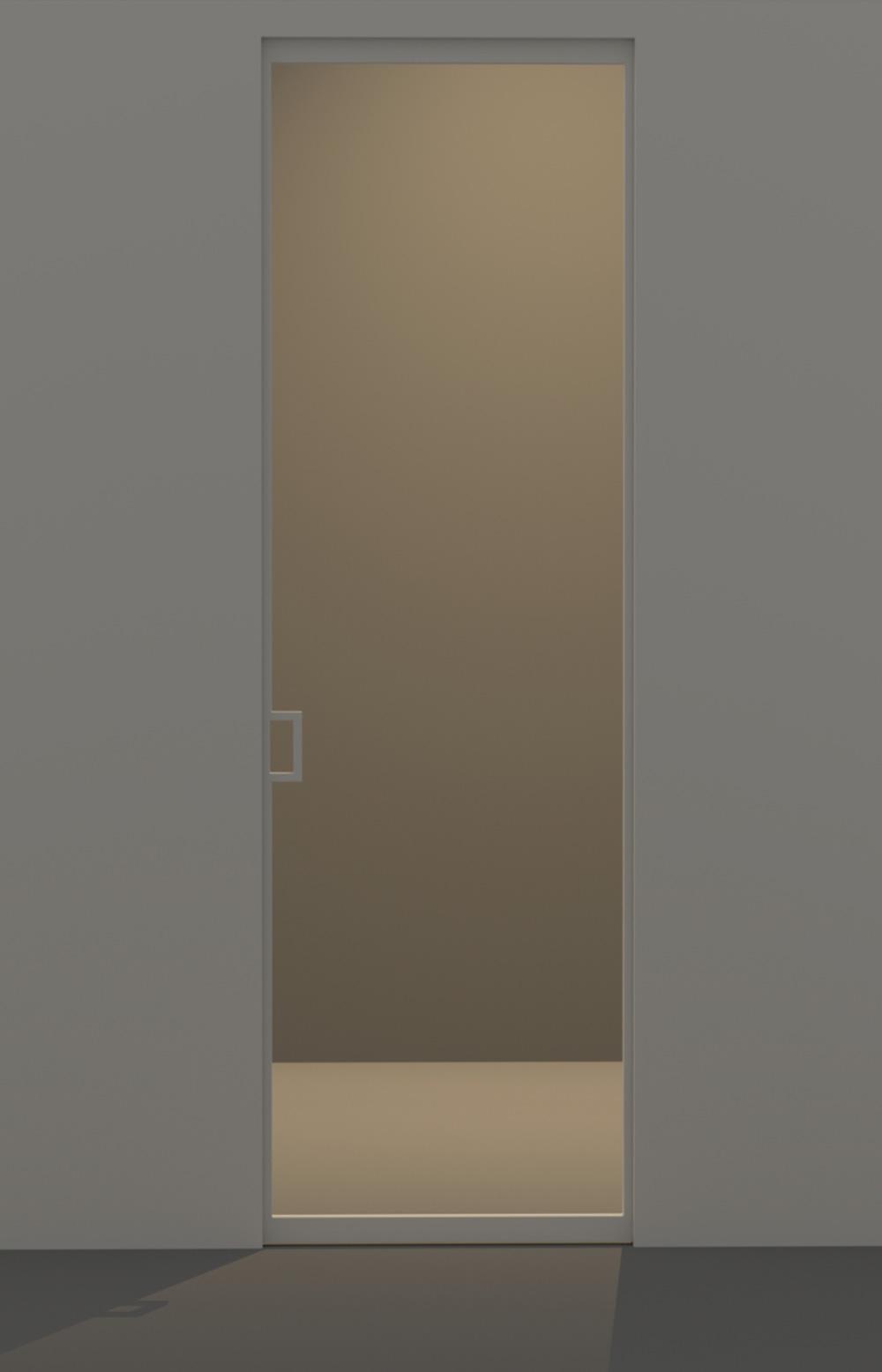 Porta scorrevole a vetro evoline3 - Porta a vetri scorrevole ...