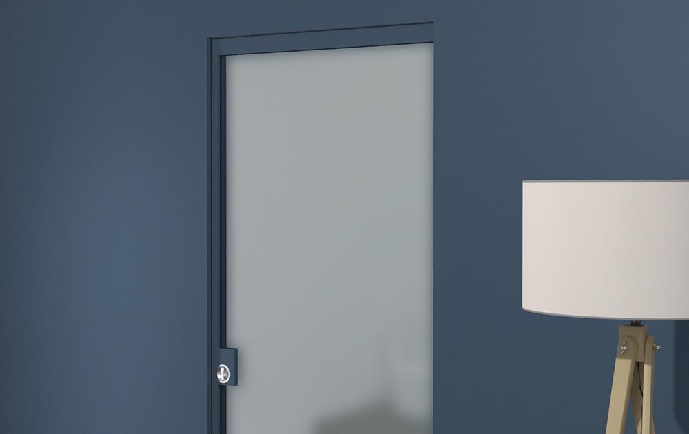 Porta vetro scorrevole vetro 7 evoline3 - Montaggio porta battente ...